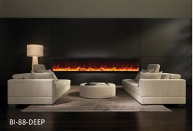 Amantii 88'' Deep Electric Built-in only with black steel surround - BI-88-DEEP
