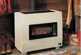 Empire B-Vent Console Room Heater - Visual Flame - 50,000 BTU - RH-50B