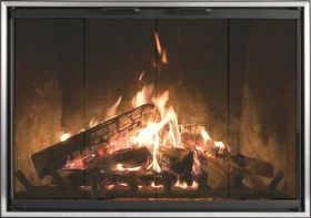 Thermo-Rite Z-Decor Stock Zero Clearance Door Marco - MC68 (shown in a Black Frame with Stainless Steel Frame Insert)