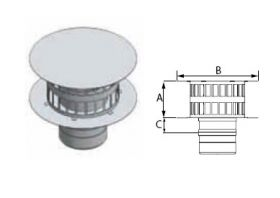 M&G DuraVent 12'' FasNSeal W2 Double Wall Rain Cap - W2-RC12 // W2-RC12