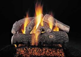 "Rasmussen 30"" Frosted Oak Log Set - Double Face - DF-S306"
