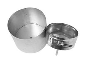 "Metal-Fab Corr/Guard 4"" D Tee Cap With Drain - DW - 4CGTC430SS"