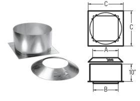 M&G DuraVent 6''-8'' DuraPlus Attic Insulation Shield - 9946 // 6DP-IS