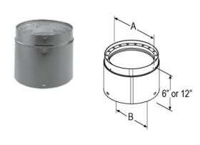 M&G DuraVent 7'' x 6'' DVL Double-Wall Adjustable Black Pipe 8785 // 7DVL-6ADJ