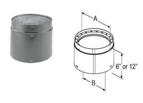 M&G DuraVent 7'' x 12'' DVL Double-Wall Adjustable Black Pipe 8787 // 7DVL-12ADJ