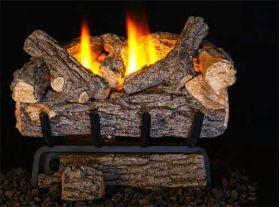 Real Fyre 24'' Valley Oak Vent Free Log Set - 9500 BTU - VOG8E-24R