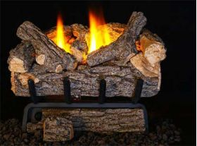 Real Fyre 20'' Valley Oak Vent Free Log Set - 9500 BTU - VOG8E-20R