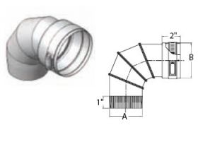 """M&G DuraVent 10"""" Ventinox VG 90 Degree Adjustable Elbow - EL294-90-10"""