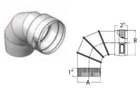 """M&G DuraVent 12"""" Ventinox VG 90 Degree Adjustable Elbow - EL294-90-12"""
