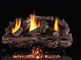 Real Fyre 18'' Charred Aged Split Oak Vent Free Log Set - CHASG10-18