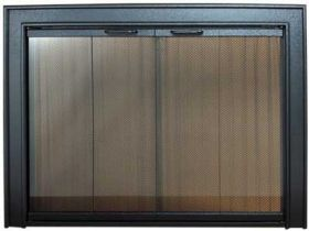 PW Gallery Glass Fireplace Door - Standard Finishes - 1000