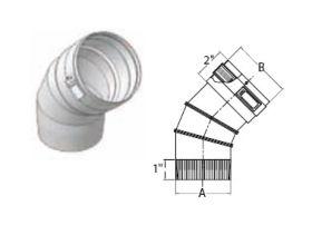 """M&G DuraVent 10"""" Ventinox VG 45 Degree Adjustable Elbow - EL294-45-10"""
