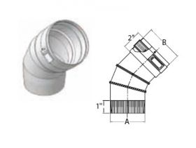 """M&G DuraVent 11"""" Ventinox VG 45 Degree Adjustable Elbow - EL294-45-11"""