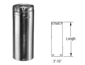 M&G DuraVent 7'' Round Gas Vent 48'' Length Round Rigid Pipe - 7GV48 // 7GV48