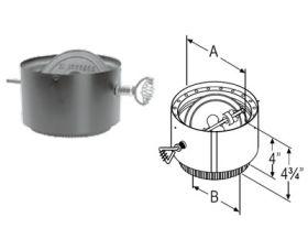 M&G DuraVent 7'' DVL Adapter/Damper Section - 8779 // 7DVL-ADWD