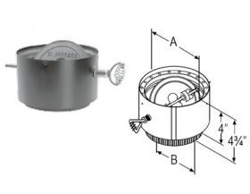 M&G DuraVent 7'' DVL Adapter Section - No Damper - 8780 W/O // 7DVL-AD