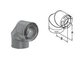 M&G DuraVent 5x8 DirectVent Pro 90 Degree Elbow - Black - 58DVA-E90B // 58DVA-E90B