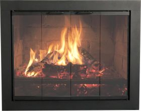 "Thermo-Rite Heritage 2 - 34 1/2"" x 28 7/8"" Glass Fireplace Welded Steel Plate Enclosure - HR3428"