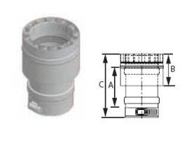M&G DuraVent 10'' FasNSeal W2 Appliance Adapter - W2-AA10 // W2-AA10