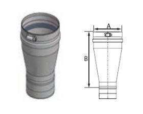 M&G DuraVent FasNSeal 3'' x 4'' Tapered Increaser - FS0304TI // FS0304TI