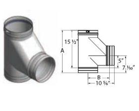 M&G DuraVent 14'' FasNSeal Boot Tee - FSBT14 // FSBT14