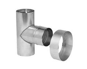 "Metal-Fab Corr/Guard 4"" D Male Tee Termination - DW - 4CGTTM304SS"