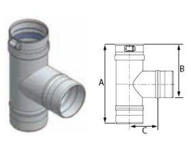 M&G DuraVent 14'' FasNSeal Standard Tee - FST14 // FST14