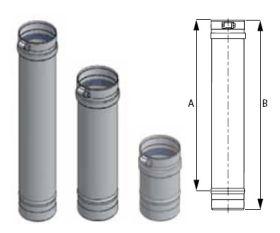 M&G DuraVent 12'' FasNSeal 12'' Vent Length - FSVL1212 // FSVL1212