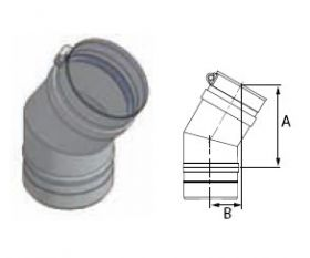 M&G DuraVent 12'' FasNSeal 30 Degree Elbow - FSELB3012 // FSELB3012