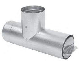 "Metal-Fab 4"" Premium Biomass Horizontal Tee - 4BCT"