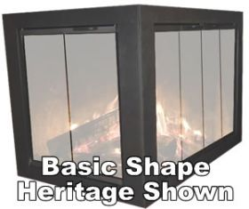 Thermo-Rite Cameo Corner Unit Custom Glass Fireplace Door - CAMEO-CORNER