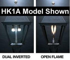 Everglow Gas Lamp Burner Options