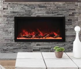 Remii 45 Tall Indoor or Outdoor Electric Built-In Fireplace - 102745-XT