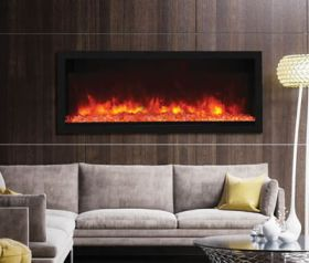 Remii 55 Tall Indoor or Outdoor Electric Built-In Fireplace - 102755-XT