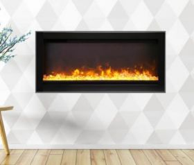 Remii 34 Basic Clean-Face Electric Built-In Fireplace - WM-34-B