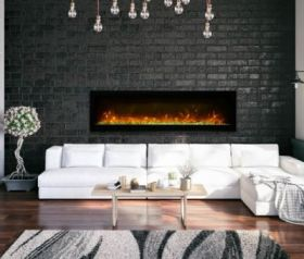 Remii 60 Basic Clean-Face Electric Built-In Fireplace - WM-60-B