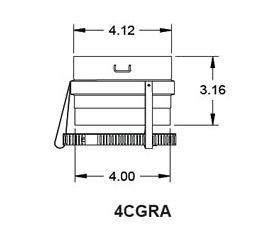 """Metal-Fab Corr/Guard 4"""" D Raypack Adapter - 4CGRA"""