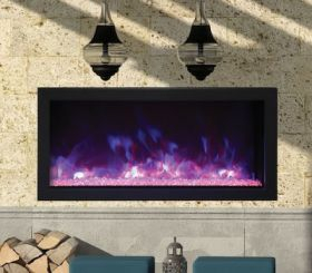 Remii 35 Extra Slim Indoor or Outdoor Electric Built-In Fireplace - 102735-XS