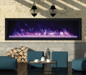Remii 55 Extra Slim Indoor or Outdoor Electric Built-In Fireplace - 102755-XS