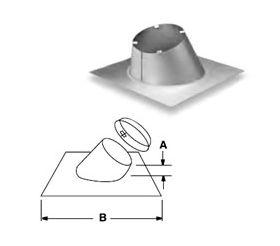 Security Chimneys 5'' Secure Temp ASHT Adjustable Roof Flashing 1/12 -7/12 - 5FAR