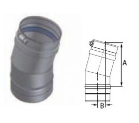 M&G DuraVent 12'' FasNSeal 15 Degree Elbow - FSELB1512 // FSELB1512