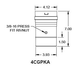 "Metal-Fab Corr/Guard 4"" D Patterson-Kelly Adapter - 4CGPKA"