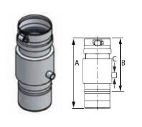 M&G DuraVent 10'' FasNSeal Universal Condensate Drain - FSUCD10 // FSUCD10