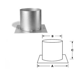 Security Chimneys 5'' Secure Temp ASHT Radiation Shield - 5RS