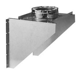Metal-Fab Temp Guard Wall Support, Adjustable - 8TGAWS