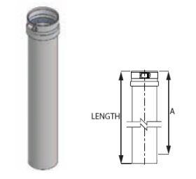 M&G DuraVent 12'' FasNSeal 36'' Adjustable Vent Length - FSAVL36-12 // FSAVL36-12