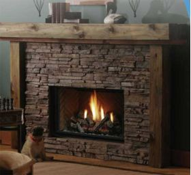 Kingsman Direct Vent Decorative Gas Fireplace -Millivolt- HBZDV3624LP