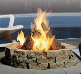 Kingsman Outdoor Fire Pit - Rectangular - Natural Gas - FP2785N