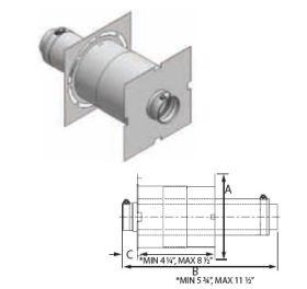 M&G DuraVent 10'' FasNSeal W2 Double Wall Wall Thimble w/AVL - W2-WT10 // W2-WT10
