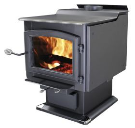 Ashley Hearth Products AW3200E-P EPA Certified Large Pedestal Wood Stove with Blower - AW3200E-P